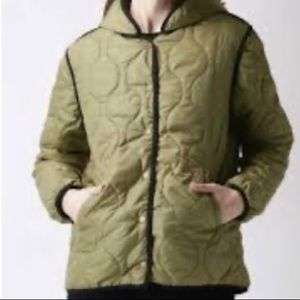 F21 Olive Green Spring/Fall Puffer Jacket